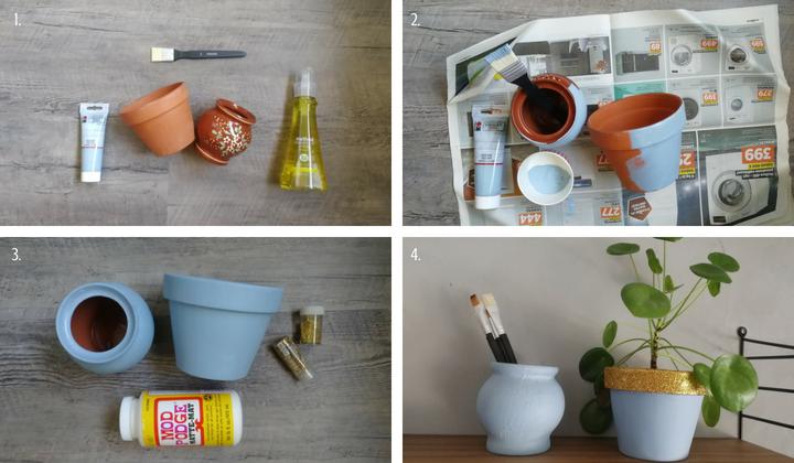 DIY kukkaruukun uudistaminen tee-se-itse-vinkki